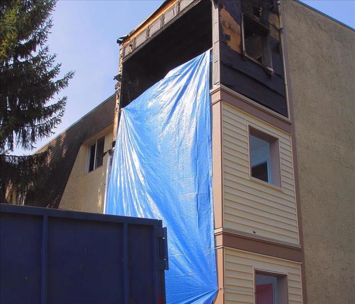 fire damaged condo second floor